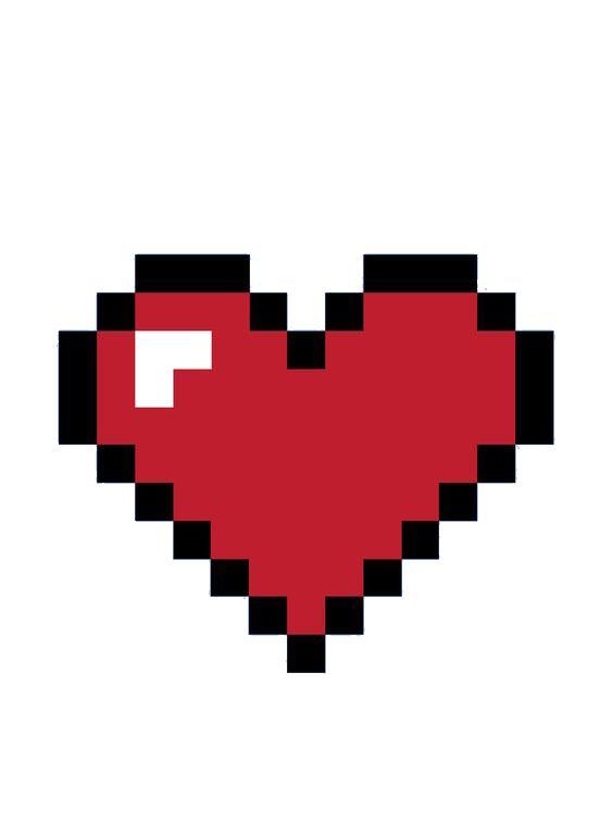 bit heart color. Pixel hearts png