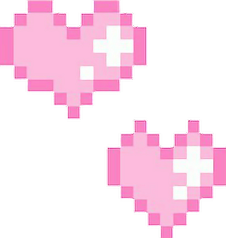 Heart sticker by canidie. Pixel hearts png