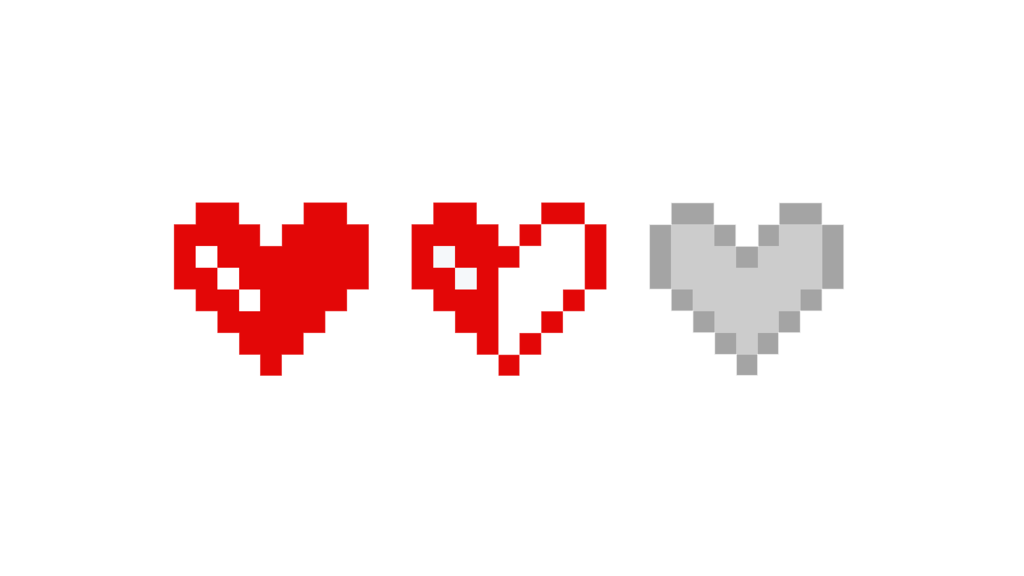 Health by megalomaniacaly on. Pixel hearts png