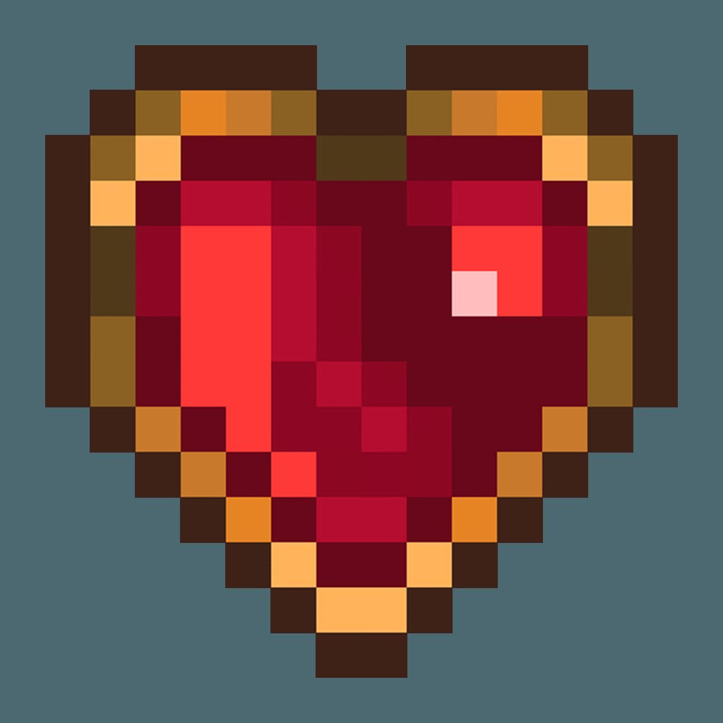 Free d retro heart. Pixel hearts png