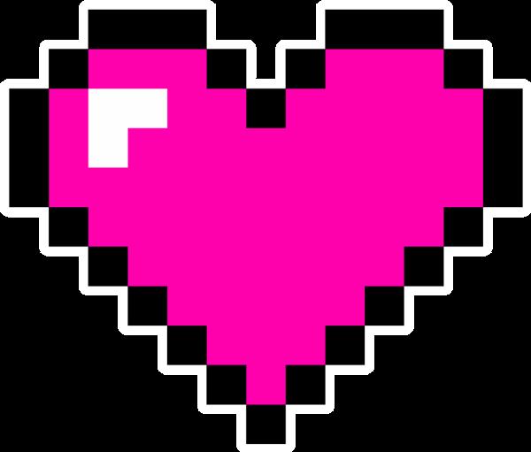 Pixel hearts png.  bit heart images