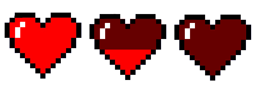 Pixel hearts png. Sprites heart life by