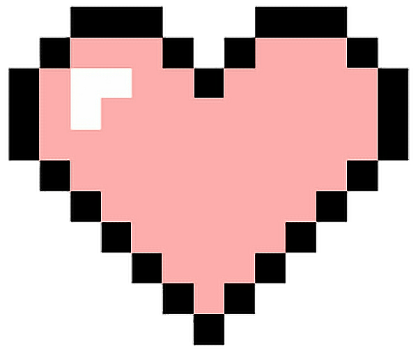 for free download. Pixel hearts png