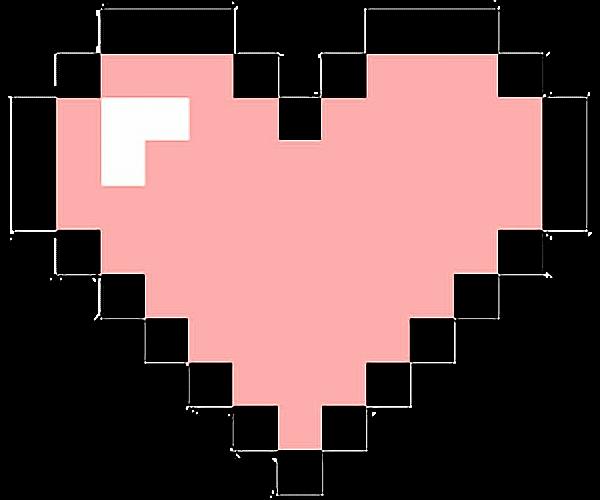 Pixel hearts png
