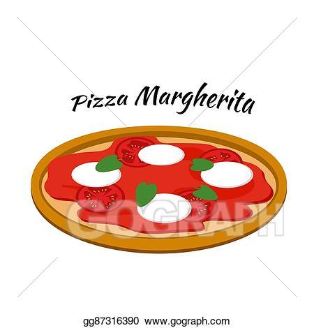 Pizza clipart margarita pizza. Vector art margherita illustration