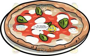 A whole margherita . Pizza clipart margarita pizza