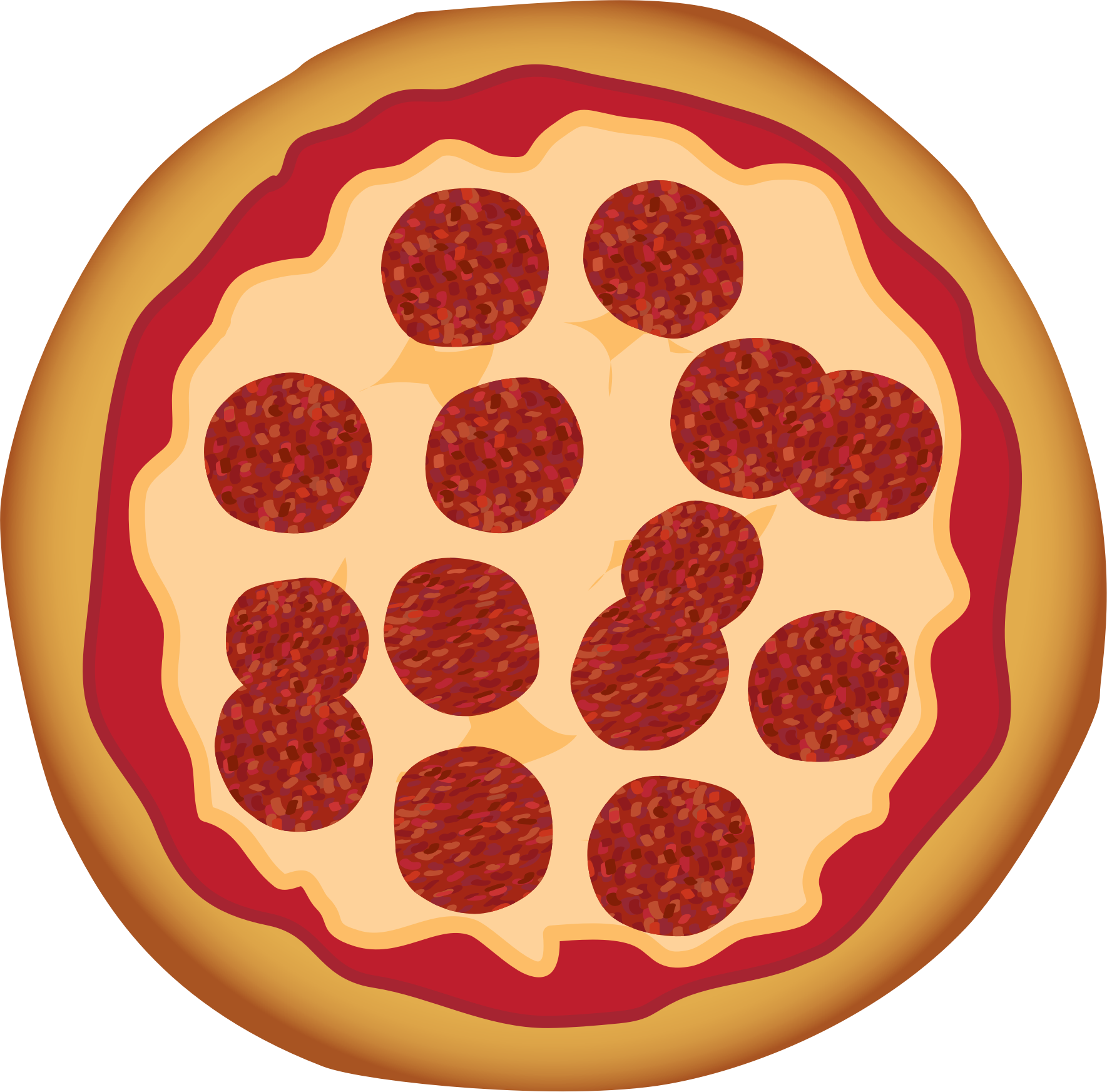 Words clipart pizza. Pepperoni by toons biz