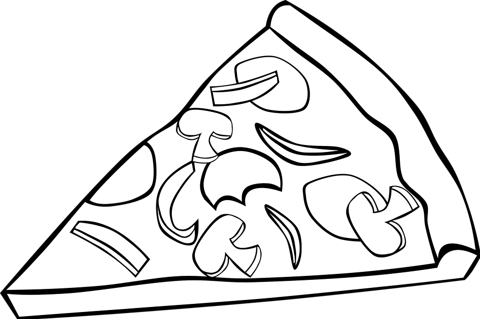 Png black and white. Words clipart pizza