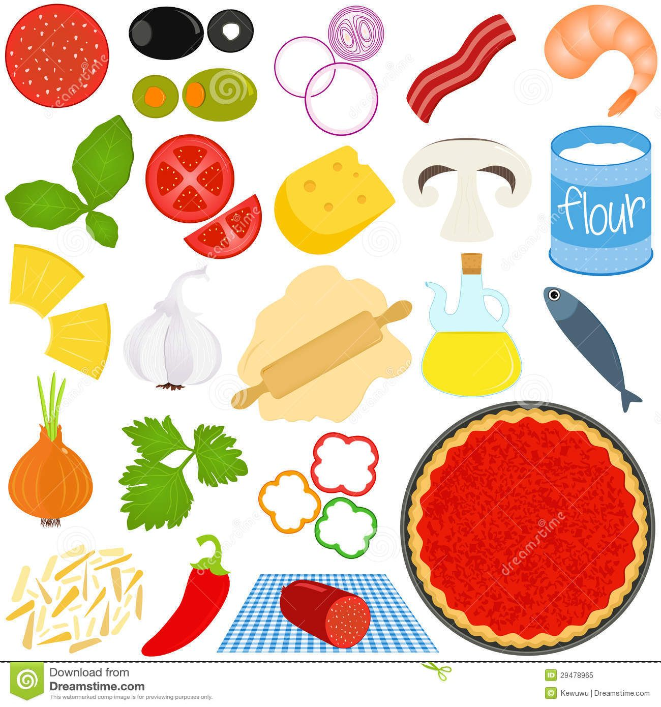 Pizza clipart pizza restaurant. Toppings ingredients to make