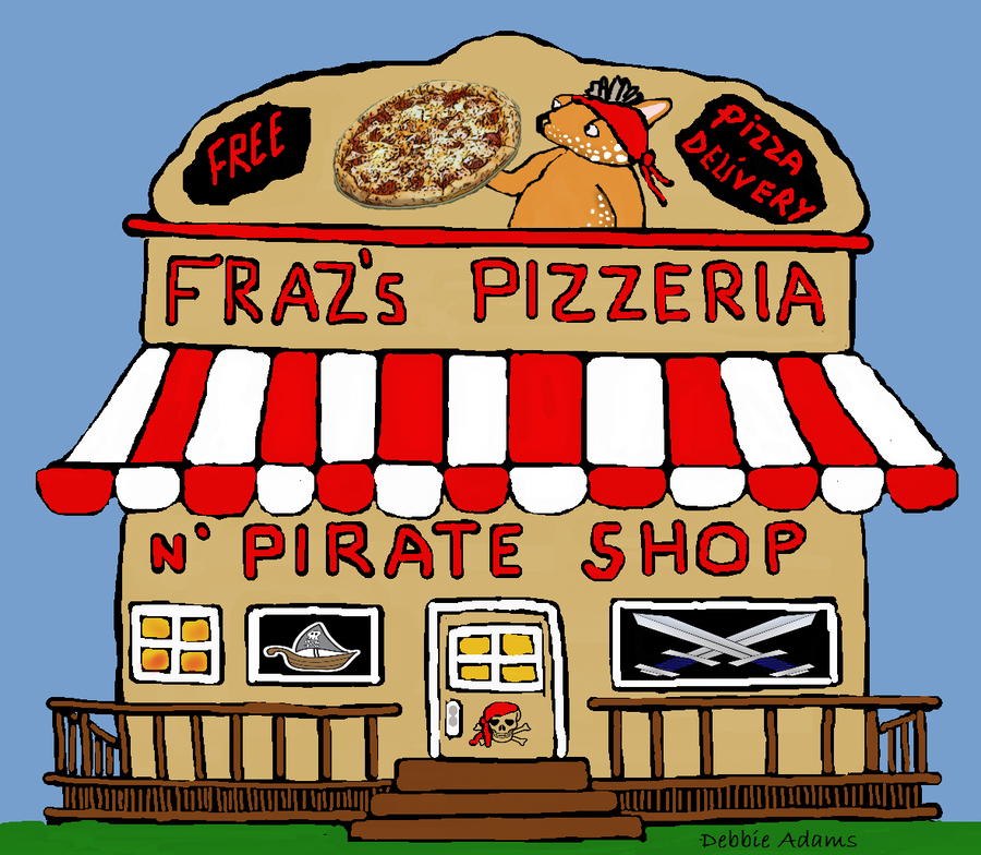 Download cartoon pizzeria delivery. Pizza clipart pizza shop