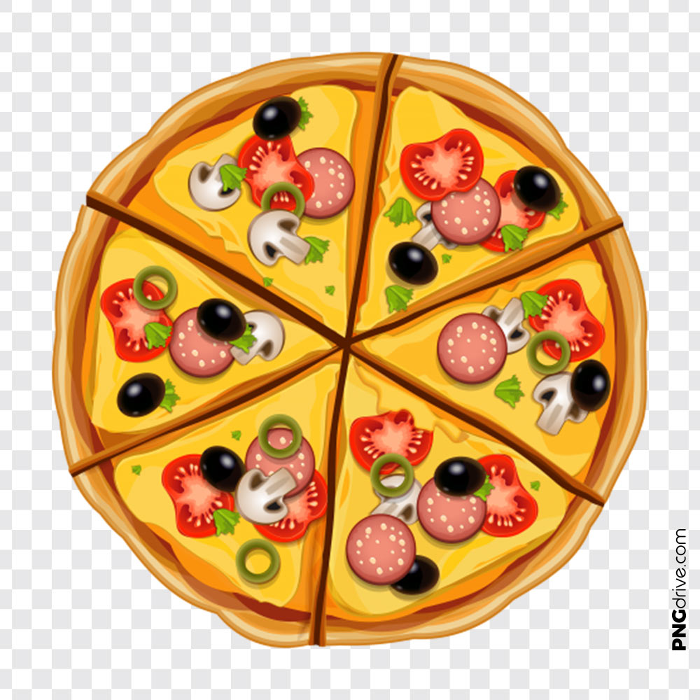 Vector png image drive. Pizza clipart top view