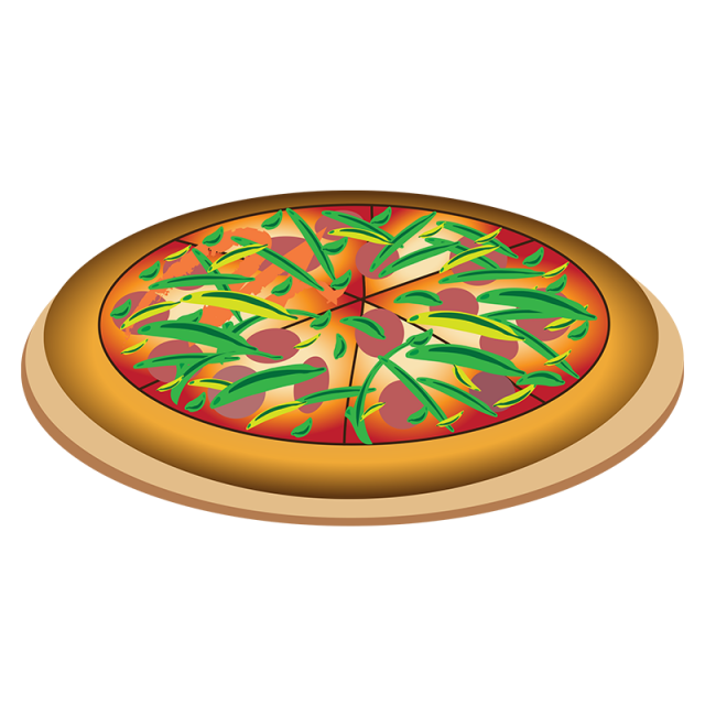 Pizza clipart top view. Realistic vector png logo