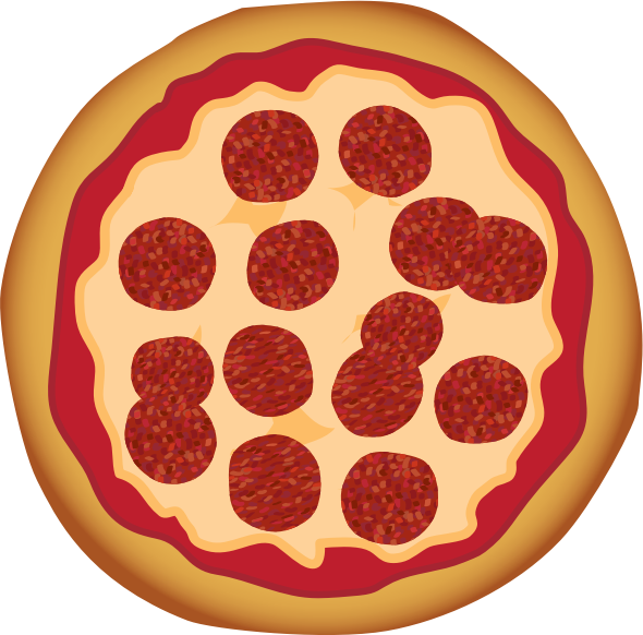 Pepperoni medium image png. Pizza clipart top view