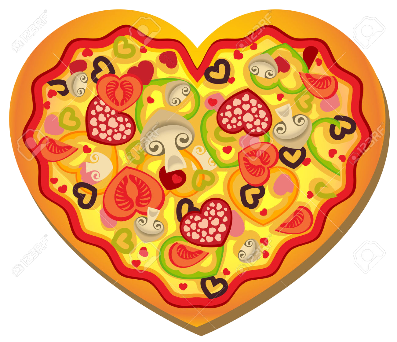 Alfa img showing gt. Pizza clipart valentine