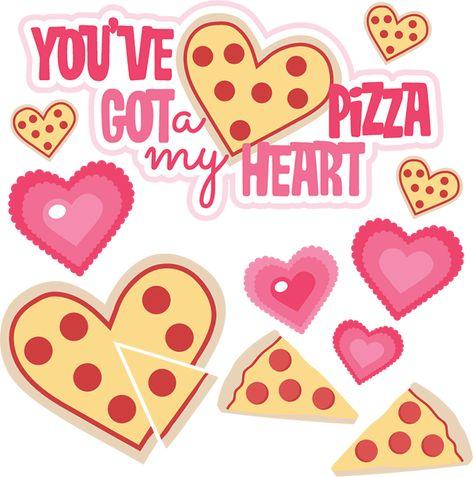Pin on scrapbookin . Pizza clipart valentine