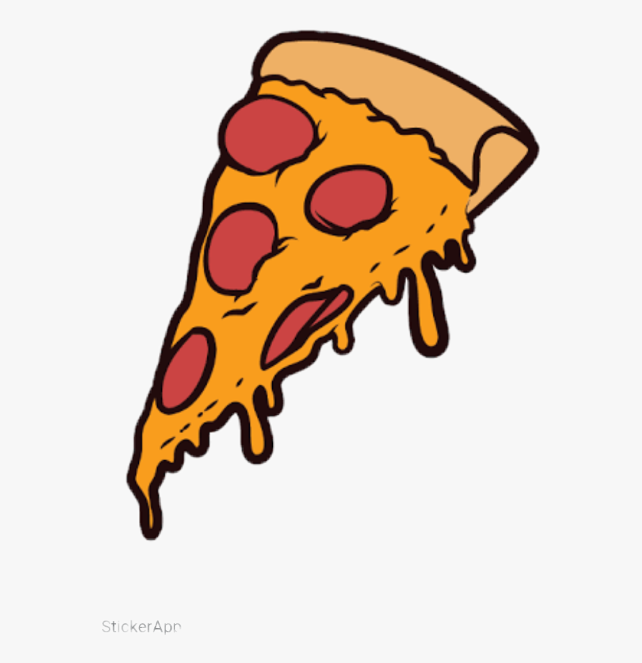 Tumblr slice cartoon png. Pizza clipart yummy pizza