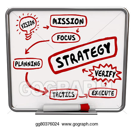 Plan clipart. Stock illustration strategy diagram