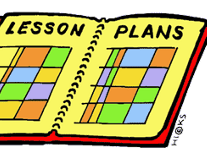 Clip art alternative design. Planner clipart lesson plan