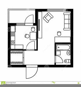 Furniture for floor plans. Plan clipart architectural plan