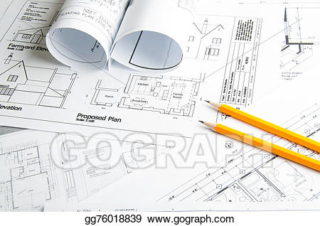 Planning clipart construction drawing. Stock illustrations drawings