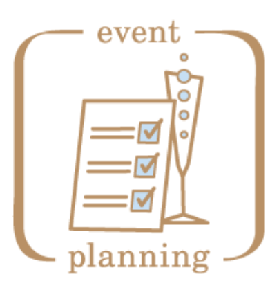 Wedding event text font. Planner clipart management plan