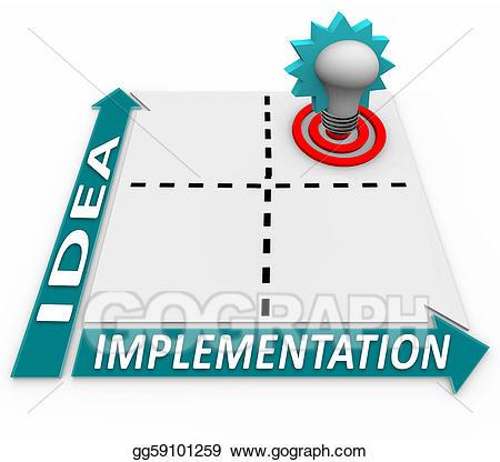 Planning clipart implementation plan. Drawing idea matrix business