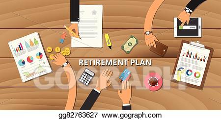 Planning clipart preperation. Vector illustration financial retirement