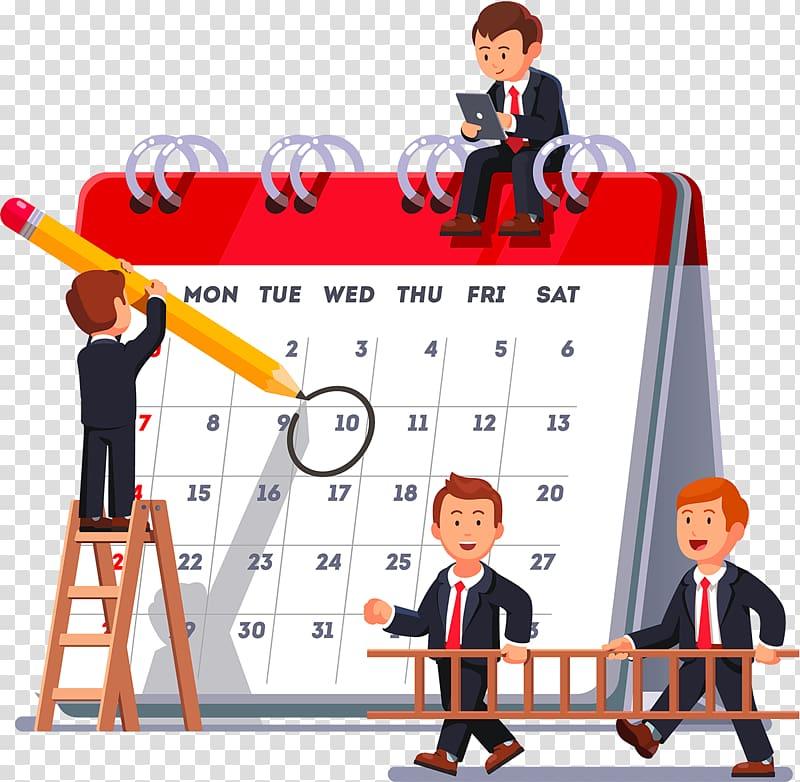Calendar transparent background png. Plan clipart planning schedule
