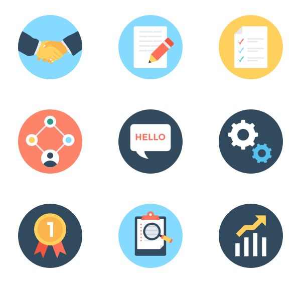 Icons free vector management. Plan clipart project planning