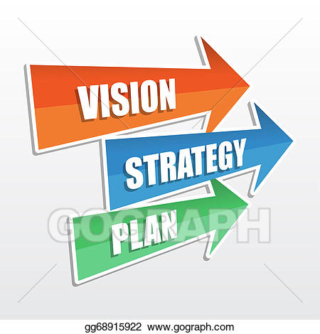 Plan clipart strategy. Stock illustration vision in