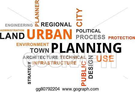 Vector stock word cloud. Planning clipart town planner