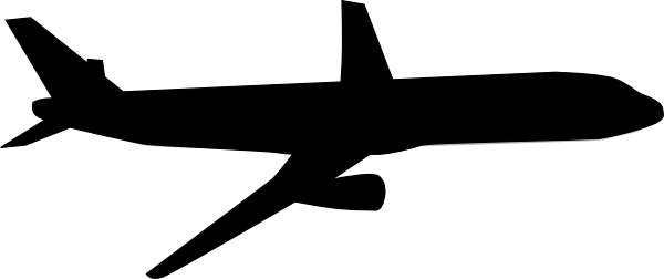 Black and white panda. Plane clipart