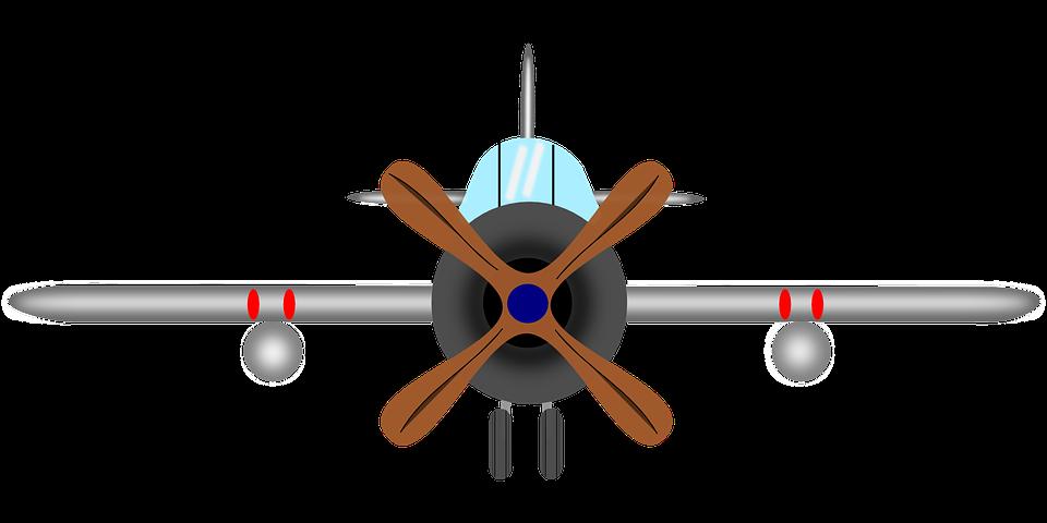 Airplane propeller ceiling fan. Plane clipart corsair