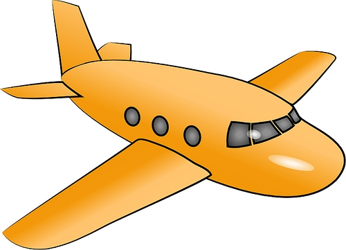 Free yellow airplane cliparts. Plane clipart gold