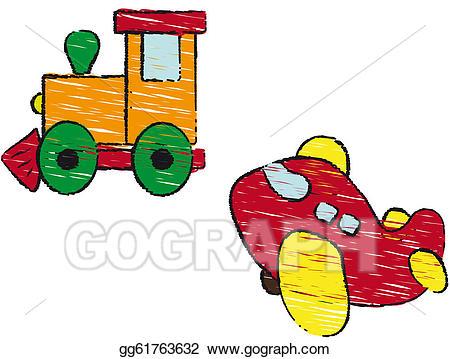 Plane clipart train. Stock illustration and illustrations