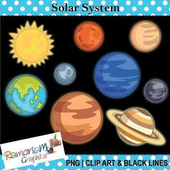 Planet clipart 8 planet. Solar system clip art