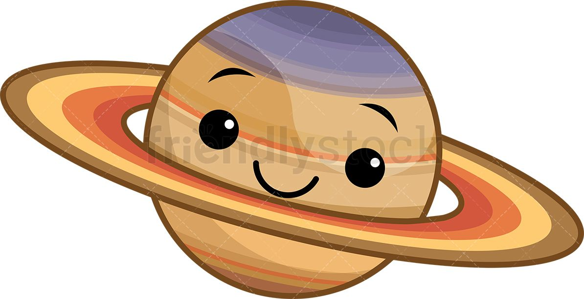 Kawaii saturn do it. Planet clipart adorable