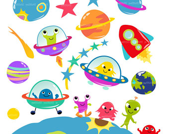 Planet clipart alien planet. Station