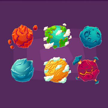 Planet clipart alien planet. Png vector psd and