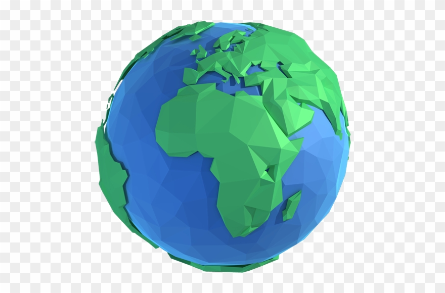 D model of earth. Planets clipart animated globe