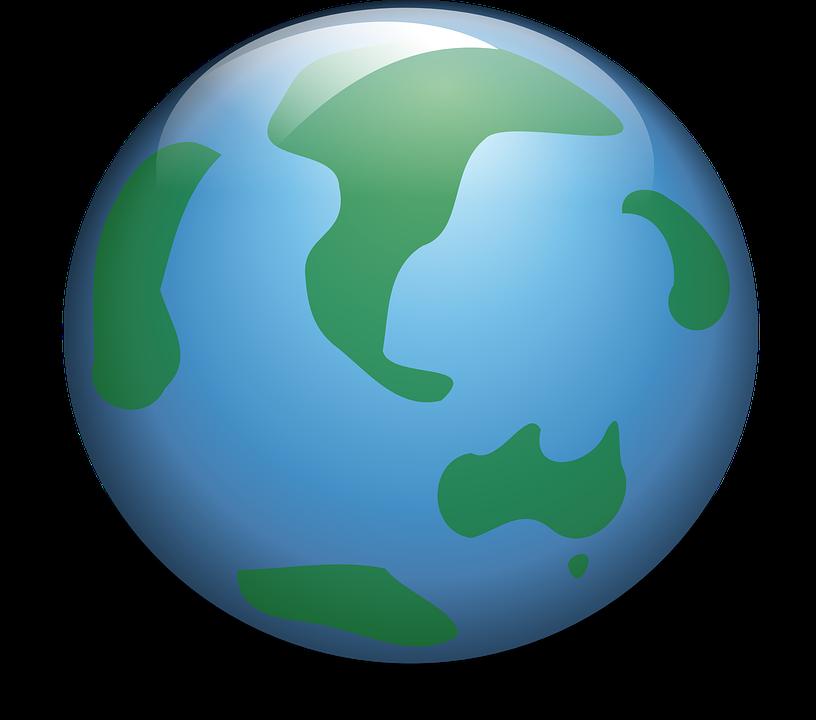 World globe art group. Planet clipart artwork