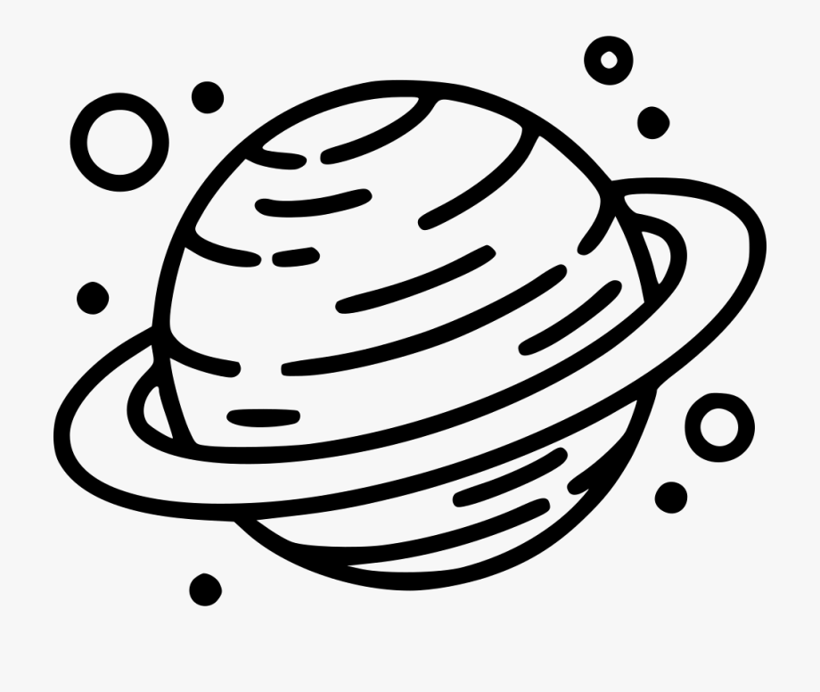 Planet saturn black and. Planets clipart svg