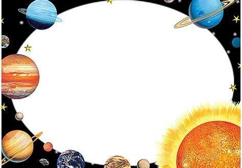 Solar system design . Planet clipart border