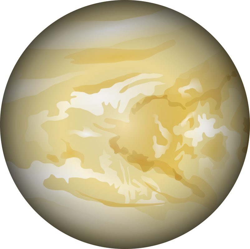 Planet clipart cartoon. Venus dan gerhards medium
