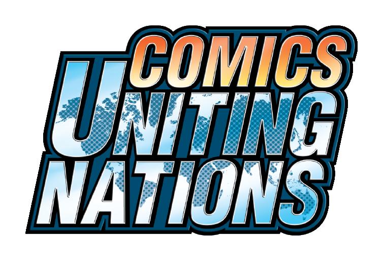 Comics uniting nations . Planet clipart comic