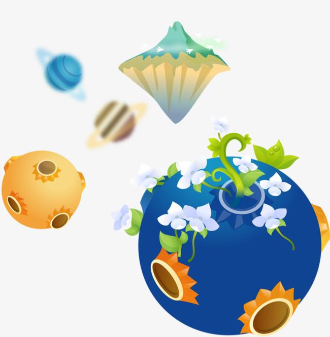 Green environmental . Planet clipart creative