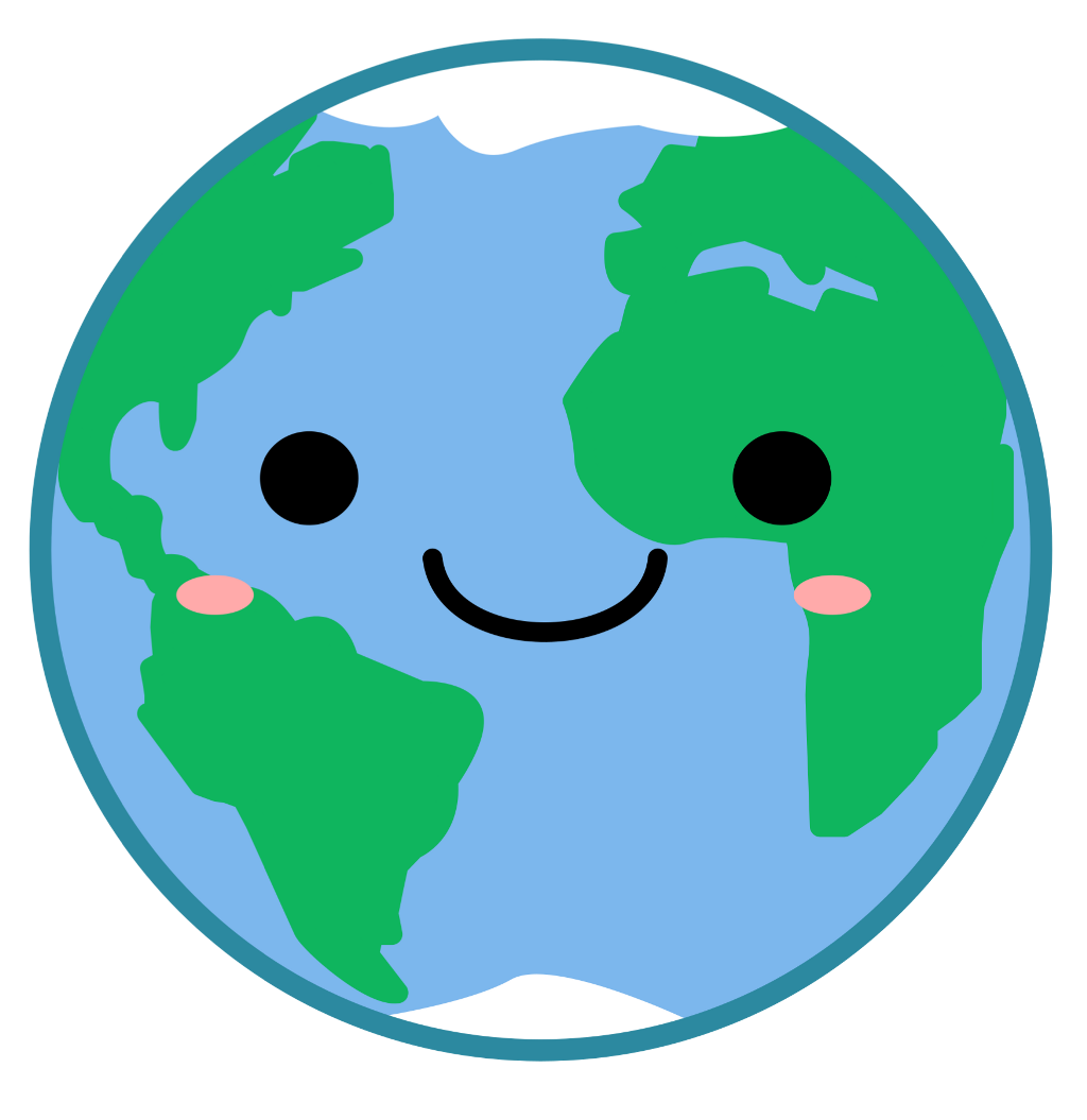Planet clipart cute. Earth kawaii world freetoedit