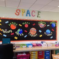 Space planets classroom class. Planet clipart display