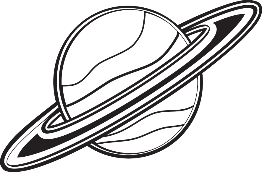 Planet clipart drawn. Saturn coloring pages democraciaejustica