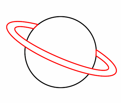 Planet clipart easy draw. Drawing a cartoon
